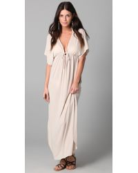 Josa Tulum | Natural Rustic Long Cover Up Dress | Lyst