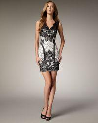 Mandalay | Black Lace Two-tone Dress | Lyst