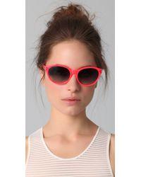 Matthew Williamson Pink Neon Pointed Oval Sunglasses
