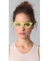 Matthew Williamson Yellow Optical Frame Glasses