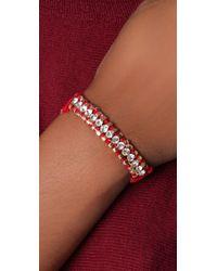Shashi | Red One Row Bandana Bracelet | Lyst