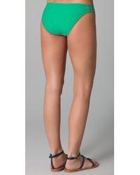 Shoshanna - Green Solid Loop Brief Bikini Bottoms - Lyst
