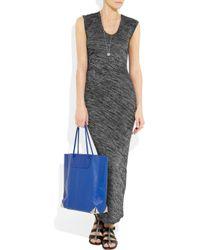 T By Alexander Wang - Gray Drape Back Marled Knit Dress - Lyst