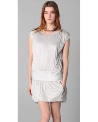Theory - Gray Denatria Full Moon Dress - Lyst