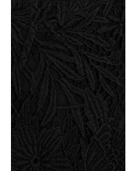 Tibi Black Open-back Cotton and Lace Dress