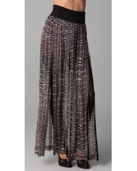 Willow | Black Print Split Panel Pants | Lyst