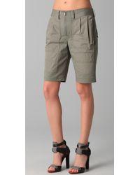 Alexander Wang | Gray Worker Shorts | Lyst