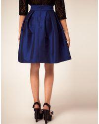 ASOS Blue Petite Umbrella Skirt