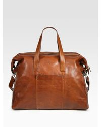 Cole Haan | Brown Small Calfskin Duffle  for Men | Lyst