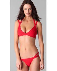 Hervé Léger - Red Cutout Bikini - Lyst