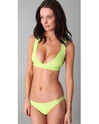 Hervé Léger - Green Sporty Bikini - Lyst