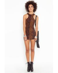Nasty Gal - Multicolor Leopard Racer Dress - Lyst
