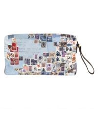 Paul Smith | Blue Stamp Print Wash Bag for Men | Lyst