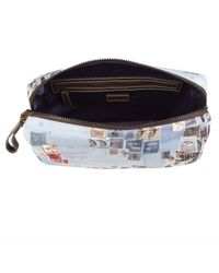 Paul Smith - Blue Stamp Print Wash Bag for Men - Lyst