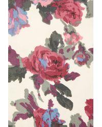 TOPSHOP - Natural Trellis Rose Zip Pocket Vest - Lyst