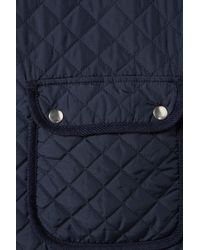 TOPSHOP | Blue Knitted Sleeve Camilla Quilted Jacket | Lyst