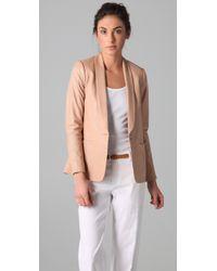 VINCE | Natural Leather Blazer | Lyst