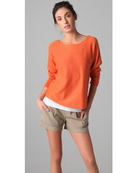 VINCE | Orange Dolman Sleeve Sweater | Lyst