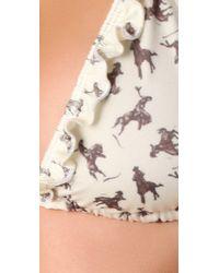 Wildfox - Natural Cow Girl String Bikini - Lyst