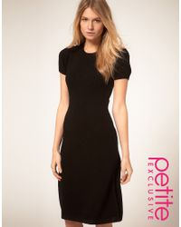 ASOS Collection - Black Asos Petite Exclusive Knitted Midi Dress - Lyst