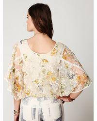Free People - Multicolor Floral Chrissy Lace Top - Lyst