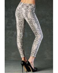 Hudson Jeans - Gray Nico Mid Rise Super Skinny - Lyst
