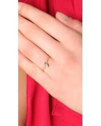 Jacquie Aiche   Metallic White Diamond Mini Moon Waif Ring   Lyst