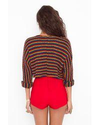 Nasty Gal | High Waist Hot Shorts - Red | Lyst