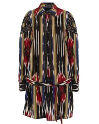 Thakoon | Multicolor Ikat-print Silk-crepe Shirt Dress | Lyst