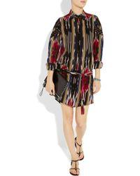 Thakoon | Multicolor Ikat-print Silk-crepe Shirt Dress | Lyst