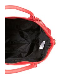 TOPSHOP - Red Slouchy Buckle Shopper Bag - Lyst