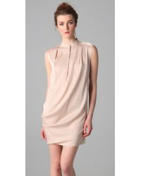 3.1 Phillip Lim Pink Draped Front Sleeveless Dress