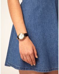 ASOS Collection | Black Patchwork Stitch Dial Watch | Lyst