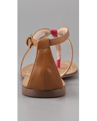 Boutique 9 Brown Paulyne Flat Thong Sandals