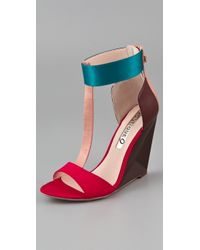 Boutique 9 Red Linya Wedge Sandals