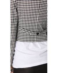 Boy by Band of Outsiders - Gray Gingham Check Jacket - Lyst