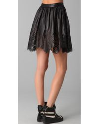 Opening Ceremony | Black Leather Skirt | Lyst