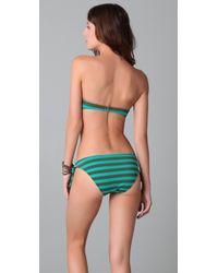 Ella Moss - Green Calypso Stripe Bandeau Top - Lyst