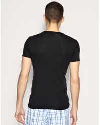 Emporio Armani | Black Eagle V Neck T Shirt for Men | Lyst