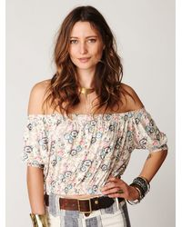Free People - Multicolor Printed Gypsy Off The Shoulder Top - Lyst