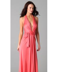 Issa - Pink Long Halter Gown - Lyst