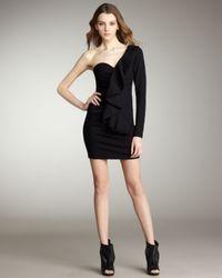 Parker | Black One-sleeve Ponte Dress | Lyst