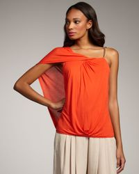 Robert Rodriguez | Red Front-twist One-sleeve Top | Lyst