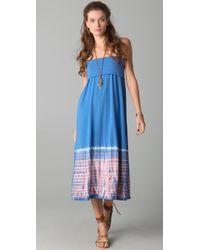 Splendid   Blue Tye Dye Maxi Skirt / Dress   Lyst