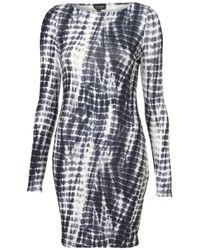 TOPSHOP Black Tie Dye Bodycon Dress