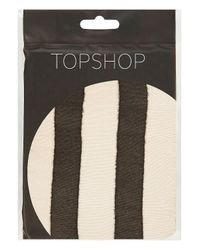 TOPSHOP Natural Thick Vertical Stripe Tights