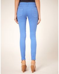 ASOS Collection Cornflower Blue Candy Skinny Jeans