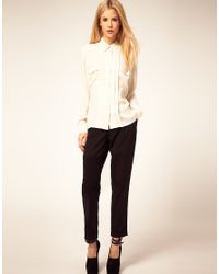 ASOS Collection - Yellow Asos Blouse with Collar and Pintucks - Lyst