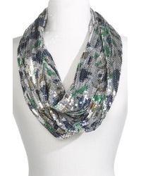 Betsey Johnson | Blue Sequin Infinity Scarf | Lyst