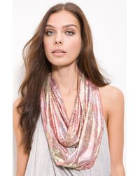 Betsey Johnson | Orange Sequin Infinity Scarf | Lyst